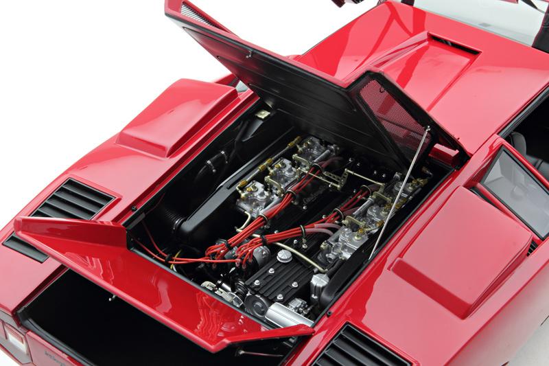 Amalgam Lamborghini Countach Lp400 Red M5263 In 1 8