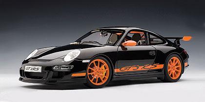 Autoart Porsche 911 997 Gt3 Rs Black W Orange