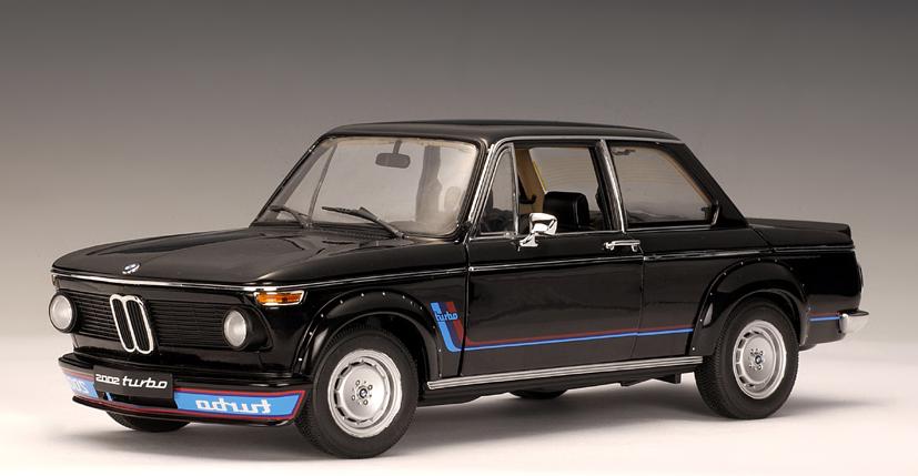 Autoart 1973 Bmw 2002 Turbo Black 50502 In 143 Scale Mdiecast