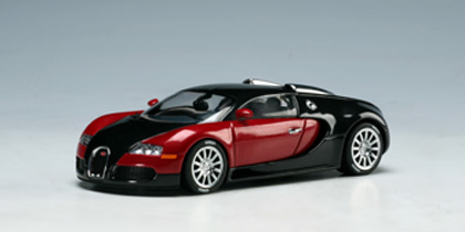 autoart bugatti veyron 16 4 production car black red 50906 in 1 43 scale mdiecast. Black Bedroom Furniture Sets. Home Design Ideas