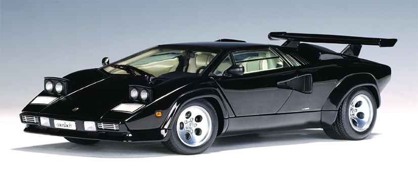 AUTOart Lamborghini Countach 5000 S Black With