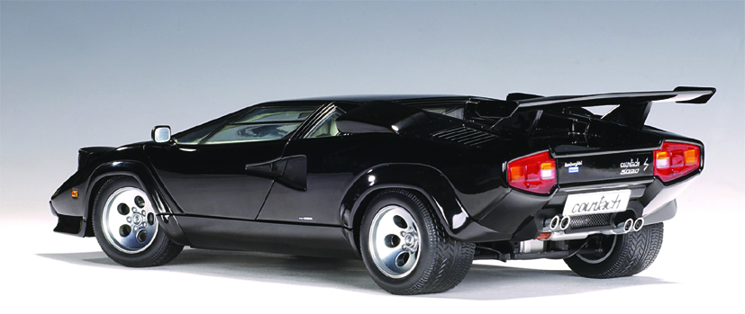 Lamborghini Countach 5000 S Black With Openings 10894 on Count To 50