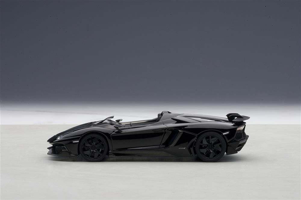 autoart lamborghini aventador j black 54653 in 143 scale