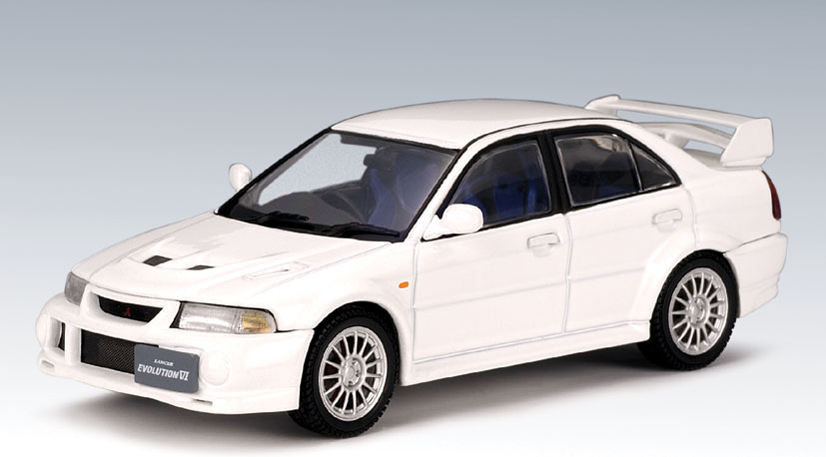 List Of Cars >> AUTOart: Mitsubishi Lancer Evo VI - White (57151) in 1:43 ...