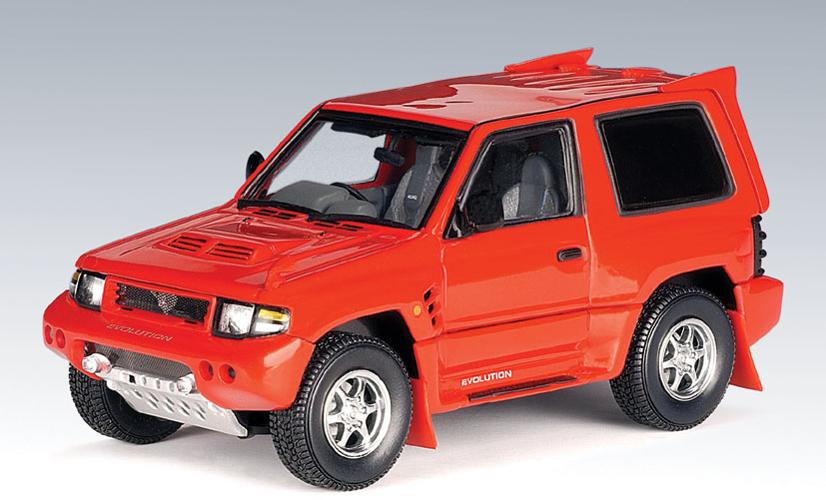 AUTOart: 1998 Mitsubishi Pajero Evo - Red (57203) in 1:43 scale - mDiecast