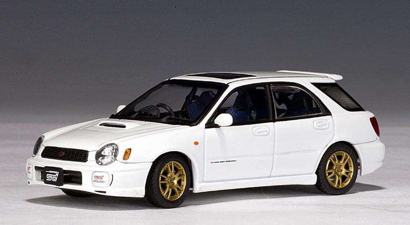Autoart 2001 Subaru New Age Impreza Wrx Wagon Sti White