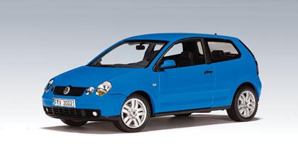 AUTOart: 2001 Volkswagen Polo - Summer Blue (59763) in 1:43 scale - mDiecast