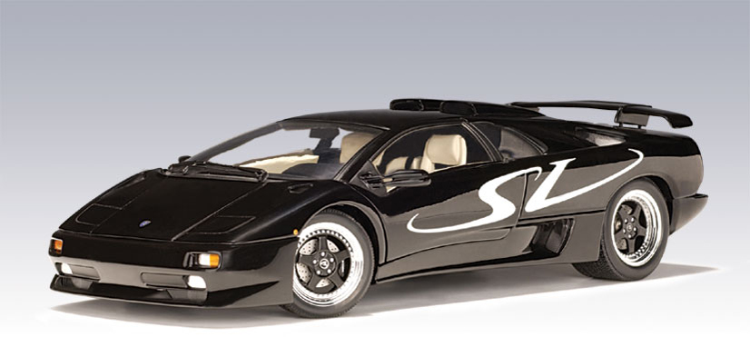 autoart lamborghini diablo sv black 70081 in 1 18 scale mdiecast. Black Bedroom Furniture Sets. Home Design Ideas