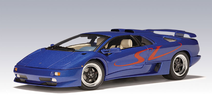 autoart lamborghini diablo sv metallic blue 70082 in 1 18 scale mdiecast. Black Bedroom Furniture Sets. Home Design Ideas