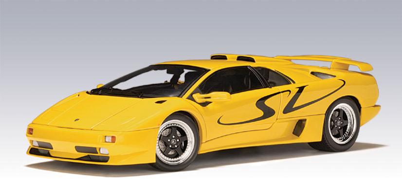 Autoart Lamborghini Diablo Sv Yellow 70083 In 1 18 Scale Mdiecast