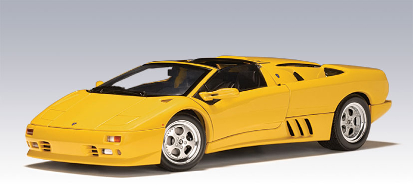 autoart lamborghini diablo roadster yellow 70092 in 1 18 scale mdiecast. Black Bedroom Furniture Sets. Home Design Ideas