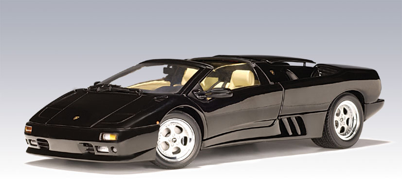autoart lamborghini diablo roadster black 70093 in 1 18 scale mdiecast. Black Bedroom Furniture Sets. Home Design Ideas