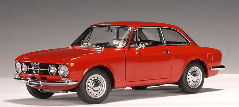 autoart 1967 alfa romeo 1750 gtv red lhd 70102 in 1 18 scale mdiecast. Black Bedroom Furniture Sets. Home Design Ideas