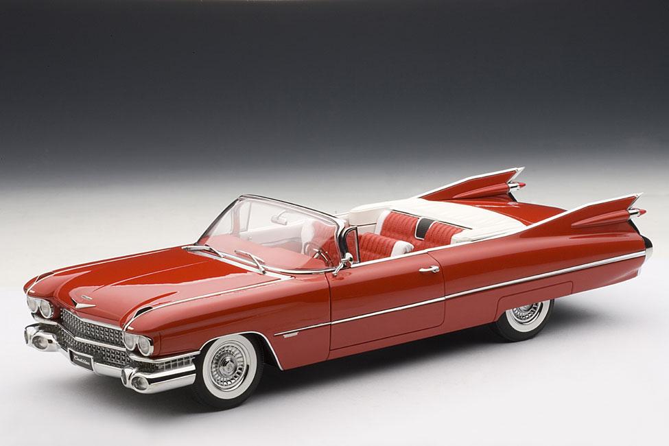 2018 Cadillac Eldorado >> AUTOart: 1959 Cadillac Eldorado Convertible - Bright Red (70401) in 1:18 scale - mDiecast
