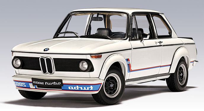 autoart 1973 bmw 2002 turbo white 70501 in 1 18 scale mdiecast. Black Bedroom Furniture Sets. Home Design Ideas