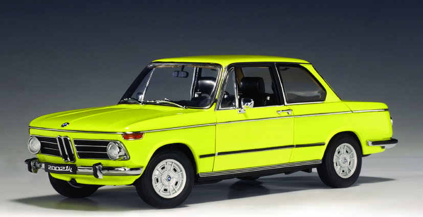 Brands Of Cars >> AUTOart: BMW 2002 tii - Golf Yellow (70508) in 1:18 scale - mDiecast