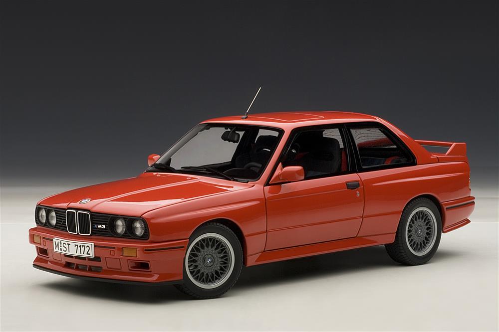 autoart 1990 bmw m3 e30 sport evolution red 70561 in 1 18 scale mdiecast. Black Bedroom Furniture Sets. Home Design Ideas
