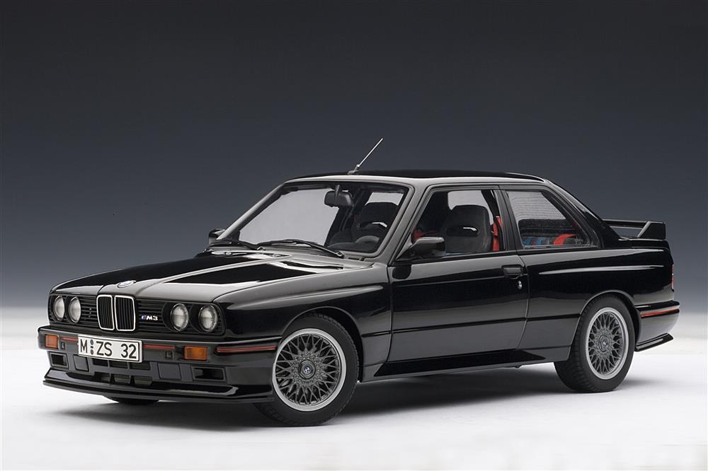 Autoart 1990 Bmw M3 E30 Sport Evolution Black 70562 In 1 18 Scale Mdiecast