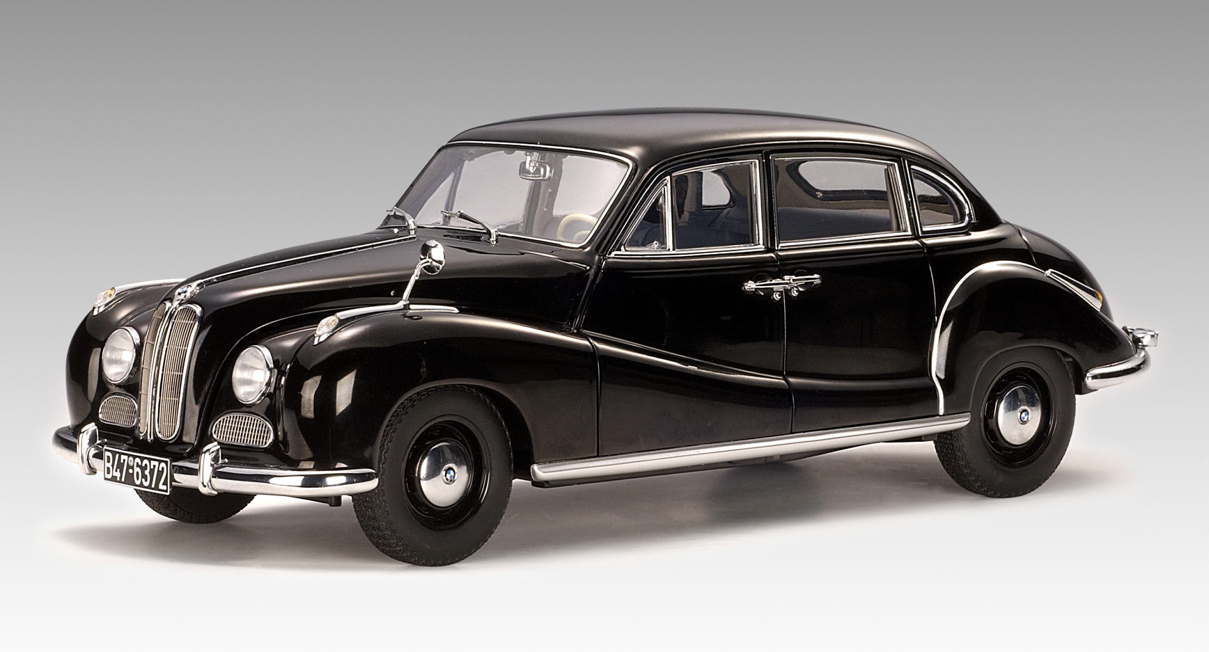 Autoart Bmw 501 Limousine 6 Cylinder Black 70602 In 1