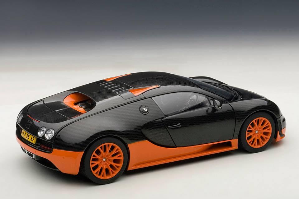 autoart bugatti veyron super sport world record black orange skirts 70935 in 1 18 scale. Black Bedroom Furniture Sets. Home Design Ideas