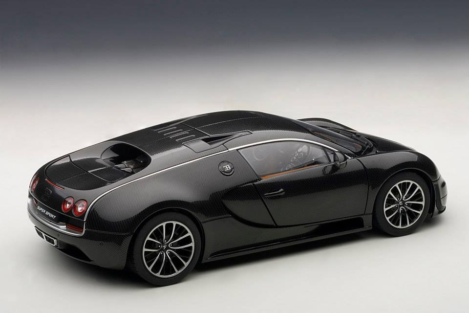 autoart bugatti veyron super sport carbon black 70937 in 1 18 scale md. Black Bedroom Furniture Sets. Home Design Ideas
