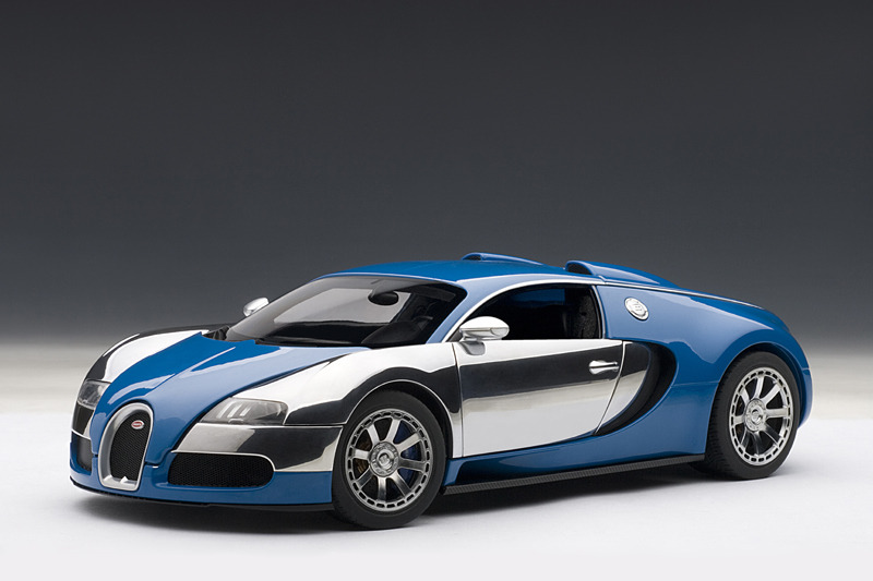 autoart 2009 bugatti eb veyron 16 4 l 39 edition centenaire french blue. Black Bedroom Furniture Sets. Home Design Ideas