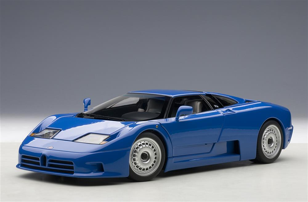 Autoart 1991 Bugatti Eb110 Gt Blue 70976 In 1 18 Scale Mdiecast