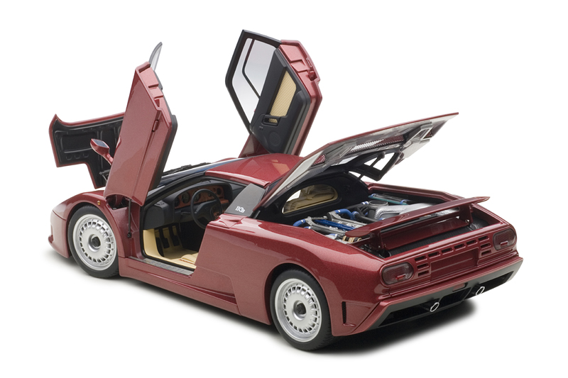 AUTOart: 1991 Bugatti EB110 GT - Dark Red (70977) in 1:18 scale
