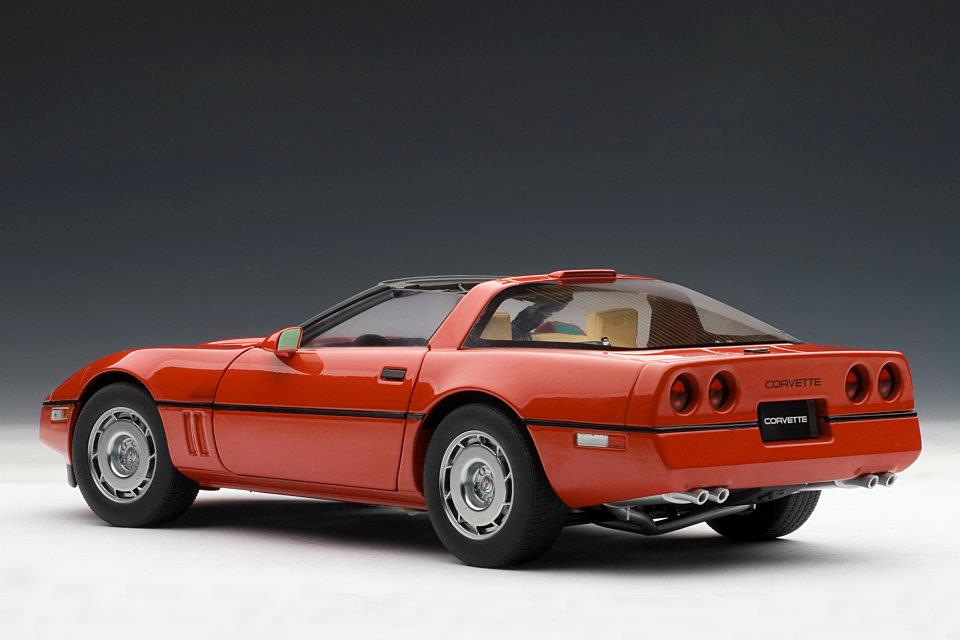 AUTOart: 1986 Chevrolet Corvette - Red (71241) in 1:18 ...