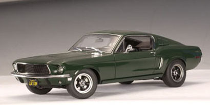 autoart 1968 ford mustang gt 39 bullitt 39 steve mcqueen green 72813 in 1 18 scale mdiecast. Black Bedroom Furniture Sets. Home Design Ideas