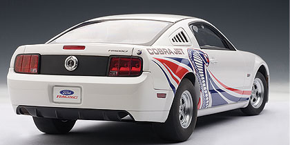 AUTOart: 2009 Ford Mustang Cobra Jet - White w/ Livery (72921) in 1:18 scale