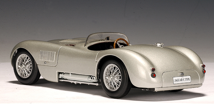 All Brands Of Cars >> AUTOart: 1951 Jaguar C-Type - Silver (73501) in 1:18 scale - mDiecast