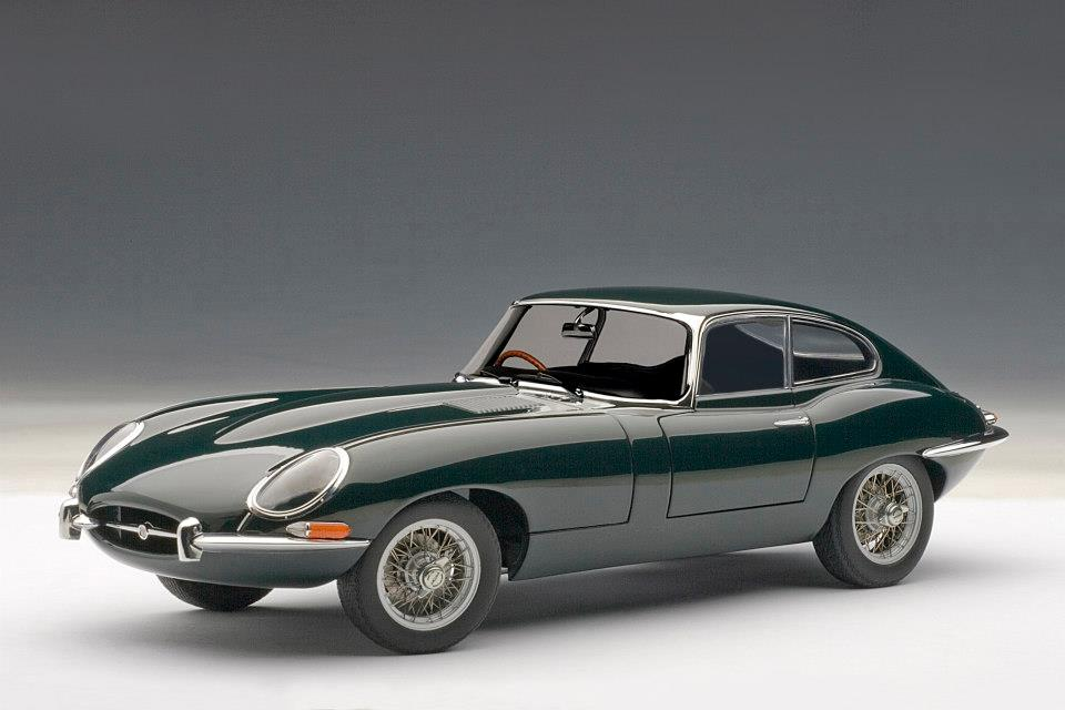 Jaguar E Type >> AUTOart: Jaguar E-Type Coupe Series I 3.8 - Green (73612) in 1:18 scale - mDiecast