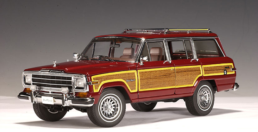 autoart 1989 jeep grand wagoneer red 74002 in 1 18 scale. Cars Review. Best American Auto & Cars Review