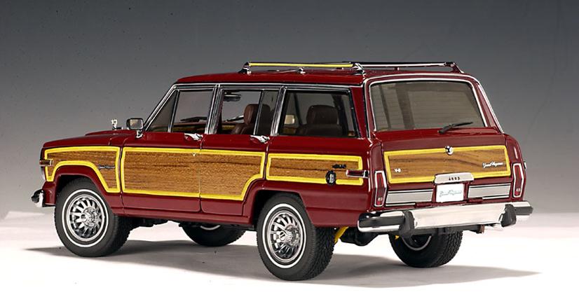 Grand Wagoneer 2018 >> AUTOart: 1989 Jeep Grand Wagoneer - Red (74002) in 1:18 ...