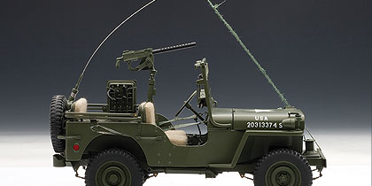AUTOart: Jeep Willys with Accessories - Army Green (74006 ...