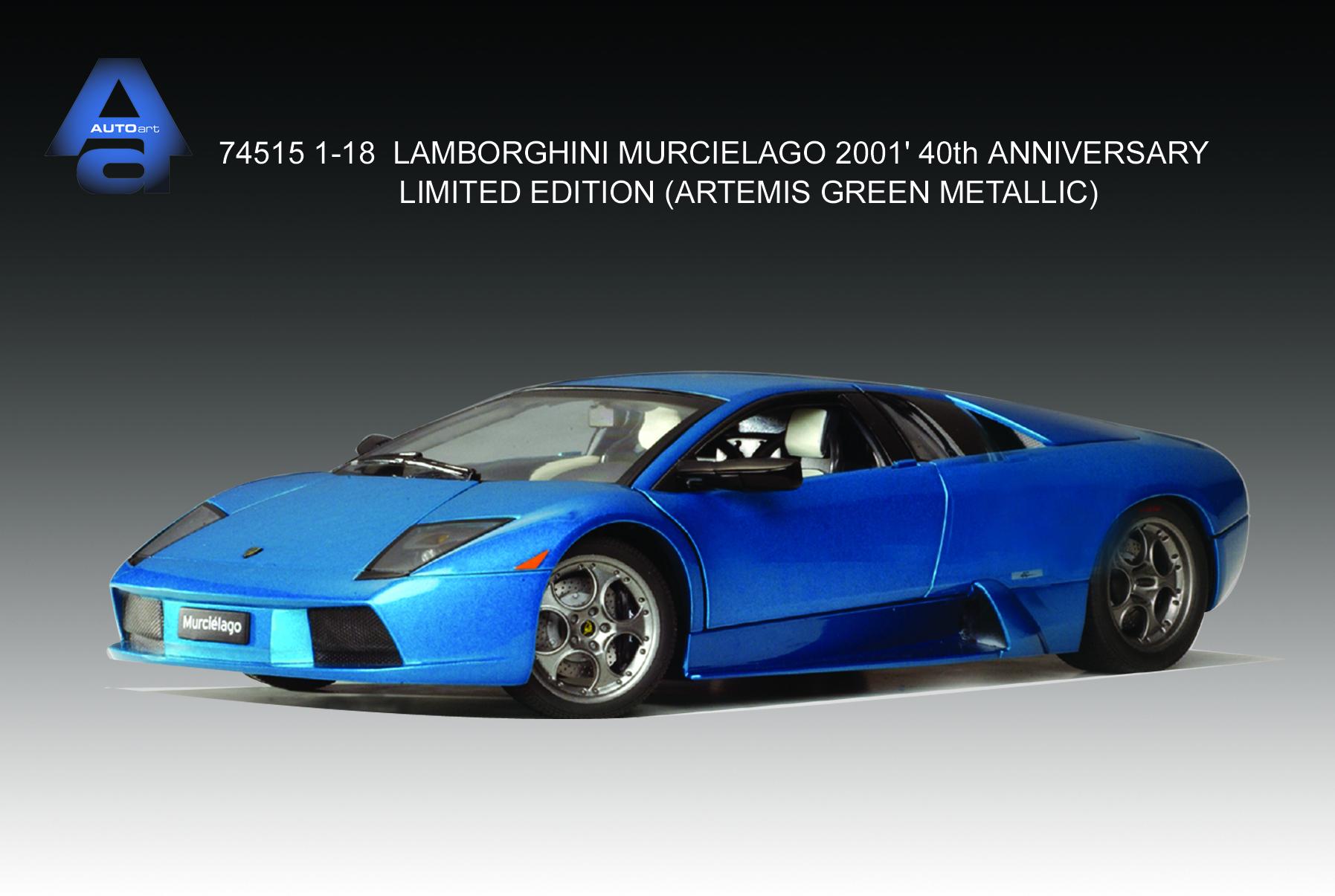 AUTOart: 2001 Lamborghini Murcielago 40 Anniv LE - Artemis Green Metallic