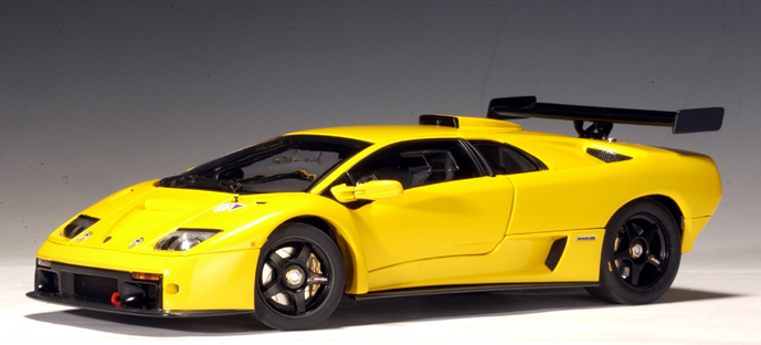 autoart 2001 lamborghini diablo gtr yellow 74521 in 1 18 scale mdiecast. Black Bedroom Furniture Sets. Home Design Ideas
