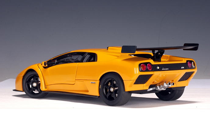 autoart 2001 lamborghini diablo gtr orange 74523 in 1 18 scale mdiecast. Black Bedroom Furniture Sets. Home Design Ideas