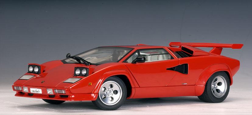 Autoart Lamborghini Countach 5000 S Red 74531 In 1 18 Scale Mdiecast