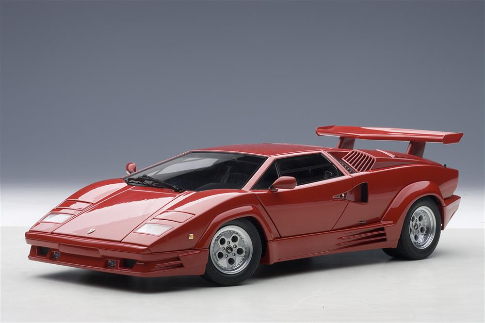 autoart lamborghini countach 25th anniversary edition red 74534 in 1 18 scale mdiecast. Black Bedroom Furniture Sets. Home Design Ideas