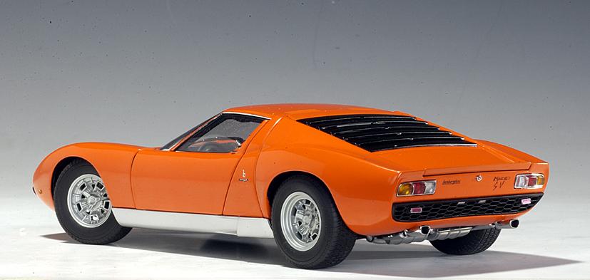 Autoart Lamborghini Miura Sv Orange 74542 In 1 18 Scale Mdiecast