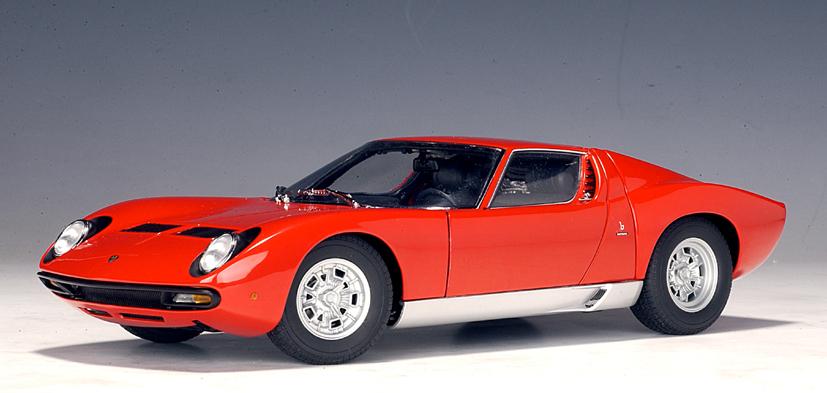 Autoart Lamborghini Miura Sv Red 74543 In 1 18 Scale Mdiecast