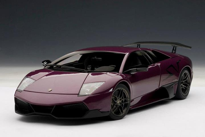 Autoart Lamborghini Murcielago Lp670 4 Sv Viola Ophelia Purple