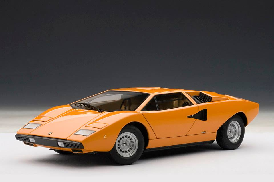 Lamborghini Countach Price >> AUTOart: Lamborghini Countach LP400 - Orange (74647) in 1 ...