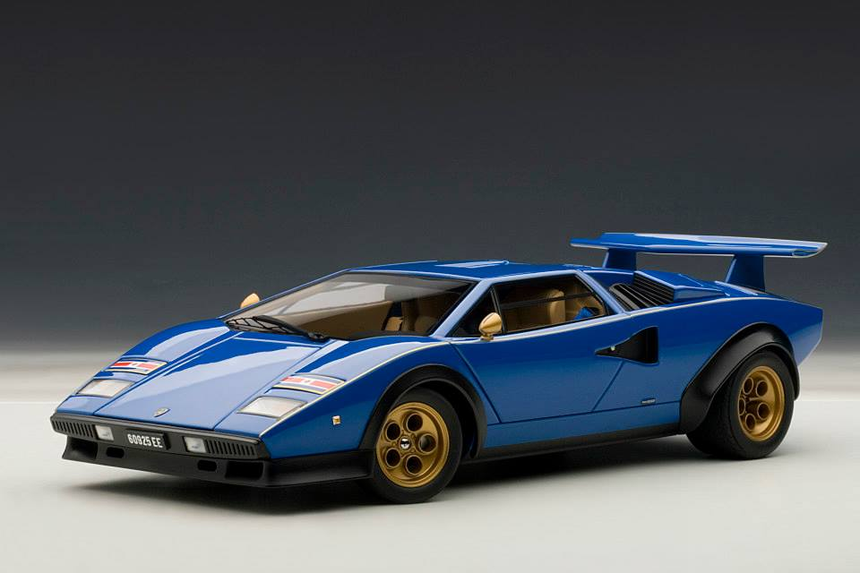 All Brands Of Cars >> AUTOart: Lamborghini Countach LP500S Walter Wolf Edition - Blue (74652) in 1:18 scale - mDiecast