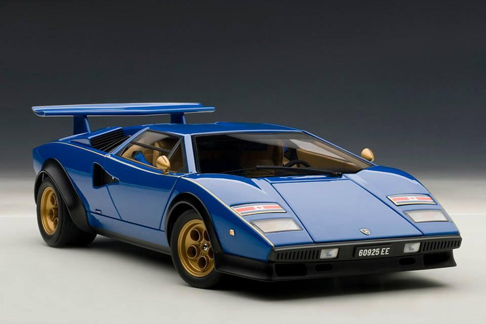 Autoart Lamborghini Countach Lp500s Walter Wolf Edition Blue