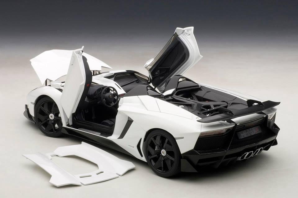 Autoart Lamborghini Aventador J White 74674 In 1 18 Scale