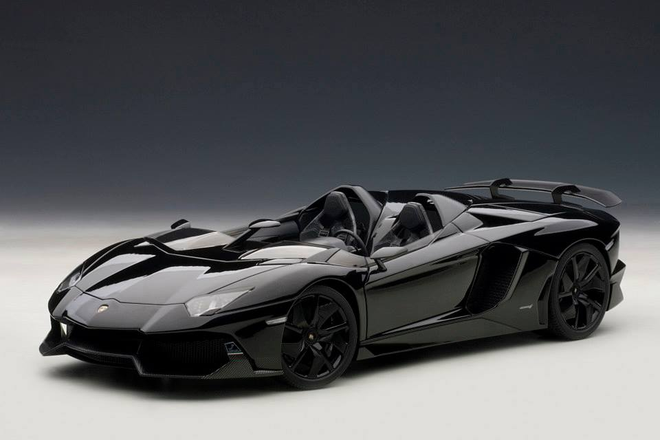 Lamborghini Aventador Black Price >> AUTOart: Lamborghini Aventador J - Black (74676) in 1:18 scale - mDiecast