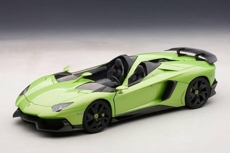 Autoart Lamborghini Aventador J Green 74677 In 1 18